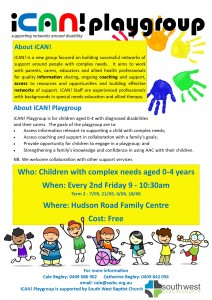 iCan! playgroup at Hudson Rd Family Centre